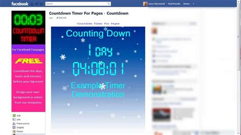 How to install a Countdown timer clock on your Facebook