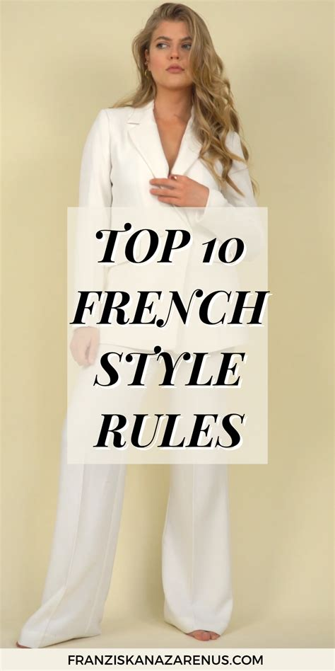 TOP 10 (french) STYLE RULES in 2020 | Französische outfit