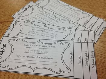 Free! Doubles Flip Book by The Lesson Plan Diva | TpT