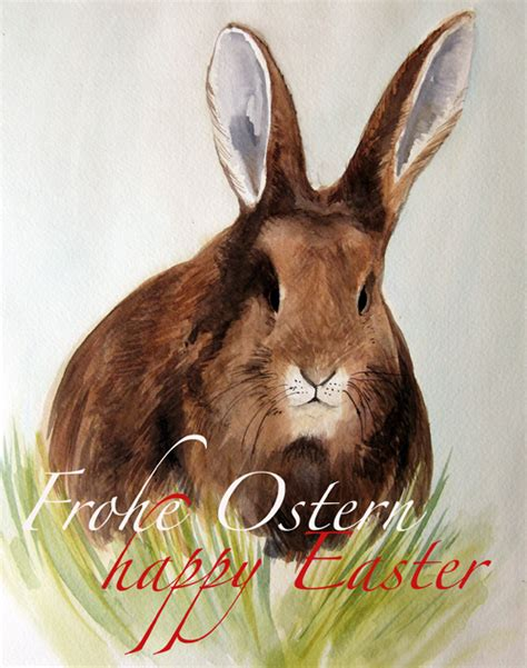 Frohe Ostern – Aquarell – Malen am Meer®
