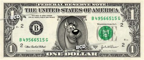SCOOBY DOO on REAL Dollar Bill - Cash by Vincent-the