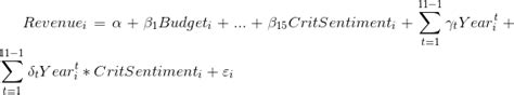 Correct Equation for Pooled OLS Regression (with Time